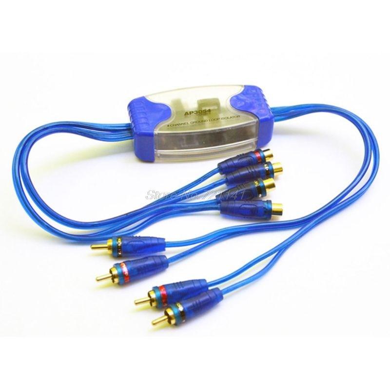 Universal 12V Noise Sound Eliminator 4 Kanal RCA Boden Loop Isolator Noise Filter Für Auto Audio