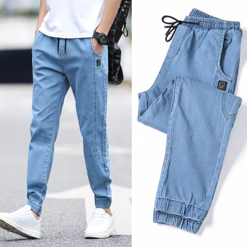 2019 Men's Casual Jeans Pants Autumn Denim Cotton Vintage Wash Hip Hop Work Trousers Jeans Pants Streetwear Mens Ripped Jeans