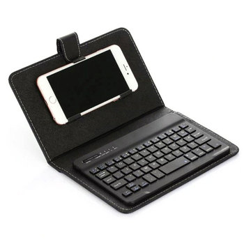 PU Leather Case Micro USB Keyboard Stand Cover For Android Protective Mobile Phone Cover with Bluetooth Keyboard