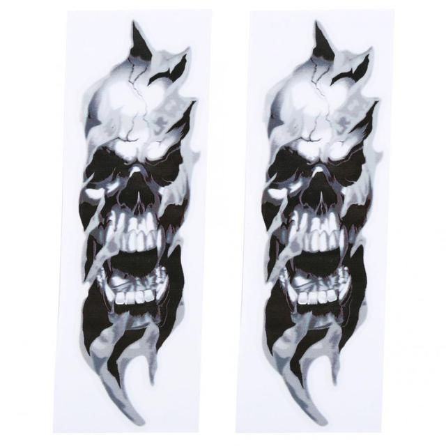 2 Pcs FORK SKULLS Stickers Electra  High quality waterproof graphics Easy to install