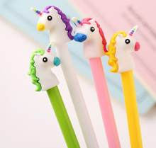 Ellen Brook 1 Pcs Briefpapier Leuke Pen Angel Paard Gel Pen School Office Supply Roman Creatieve Handvat Gift Styling Eenhoorn kawaii(China)