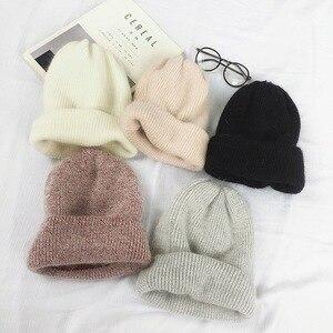 Осень-зима 2020, зимние шапки из кроличьего меха, модные теплые шапки, шапки, повседневные женские однотонные шапки из кроличьего меха для взрослых, закрывающие голову