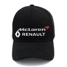 Casual Cotton McLaren Renault Baseball Cap Behind A Magic Sticker And Can Be Properly Soildcolorhat(China)