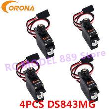 4 pces corona ds843mg/DS-843MG digital alto torque micro servo 4.8kg / 0.10sec / 11.5g
