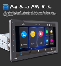 Movable 1 Din  Car Auto-Radio CarPlay+GPS MP5 Video Machine for Android/Apple Dual Inter-connection Full-Screen View 9