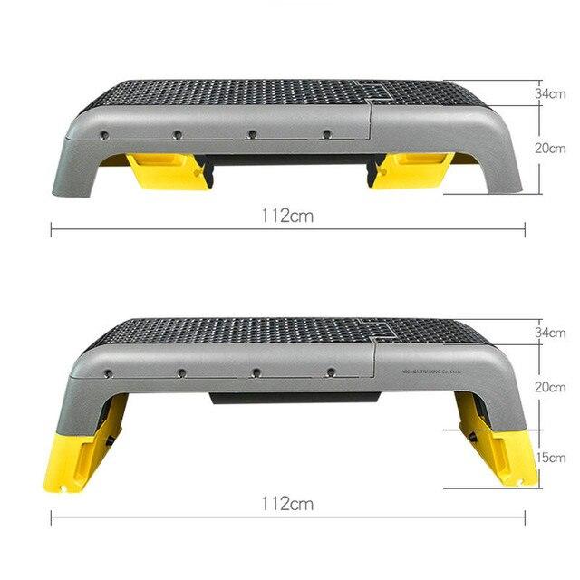 Stepper de remise en forme détape aérobie multifonctionnelle, plate-forme polyvalente de Station de remise en forme de forme physique pour létape, musculation, Bootcamps