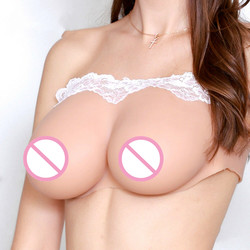 Big Silicone Boobs CD TG TV Drag Queen E Cup Woman Breasts Back Concave Pink  Lingerie  Strapless Bra  Bras