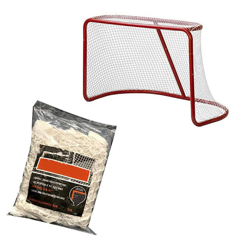 Hockey Goal Replacement Net 48''*37'' Durable Sleeve Net Suit For Ice Hockey Sports Backyard Outdoors Training Accessories
