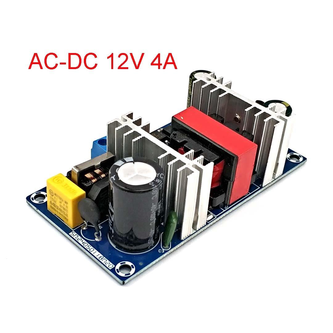 Преобразователь переменного тока в постоянный ток 110 В 220 В в постоянный ток 12 В 4 а 50 Вт макс. 6 А плата импульсного источника питания Светодио...