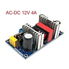 Ac para dc conversor 110v 220v para dc 12v 4a 50w max 6a placa de alimentação de comutação módulo fonte de alimentação led driver