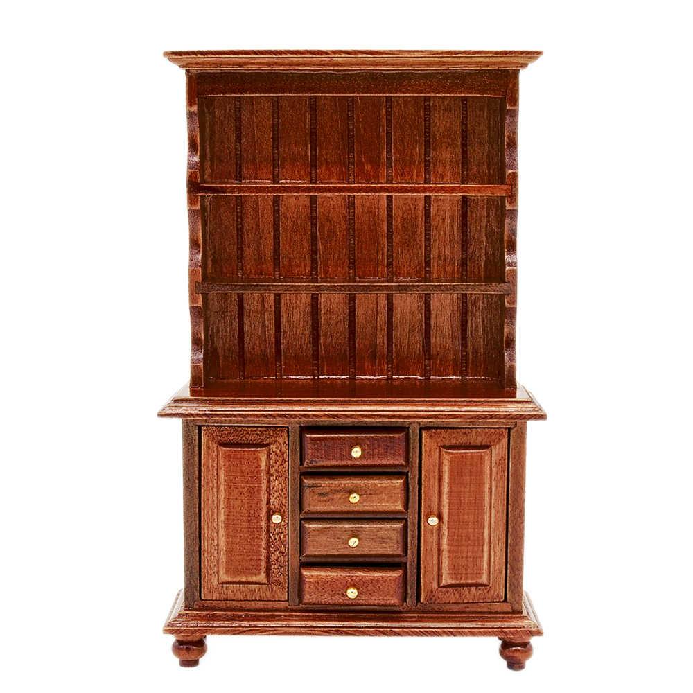 1:12 Dollhouse Miniature ~ Beautiful Wood Cabinet w// Drawers /& Cupboards ~ New!