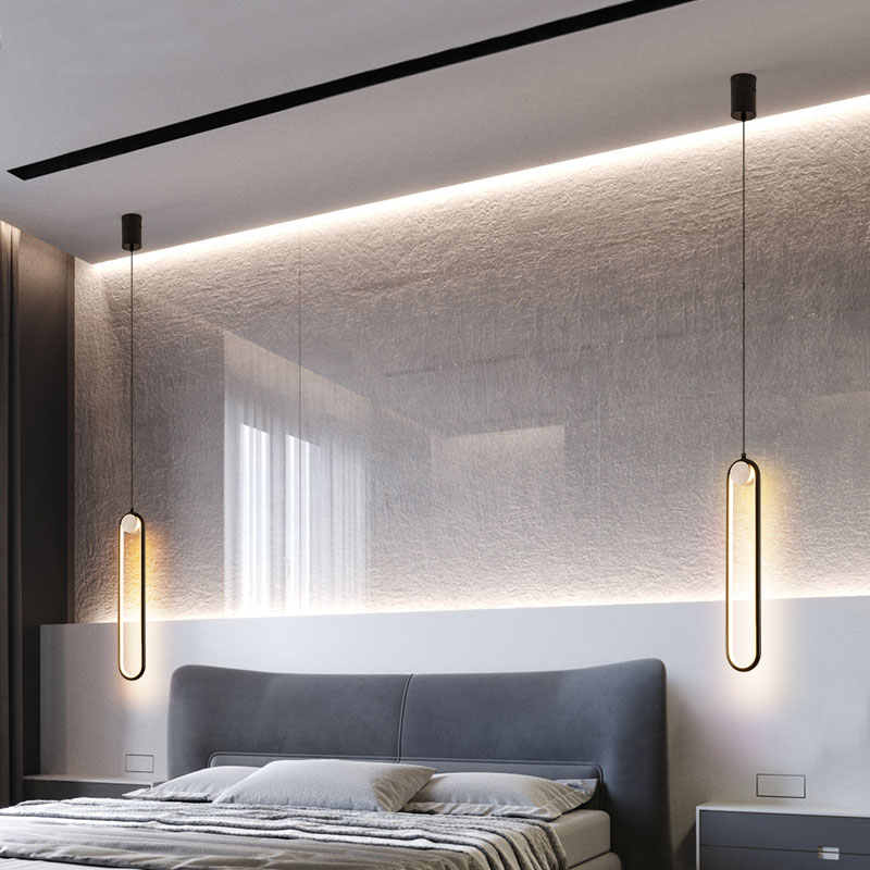 Nordic Led Hanging Lights Bedroom Modern Pendant Lights For Living Room Background Wall Bedside Lamps Home Decor Light Fixtures Pendant Lights Aliexpress