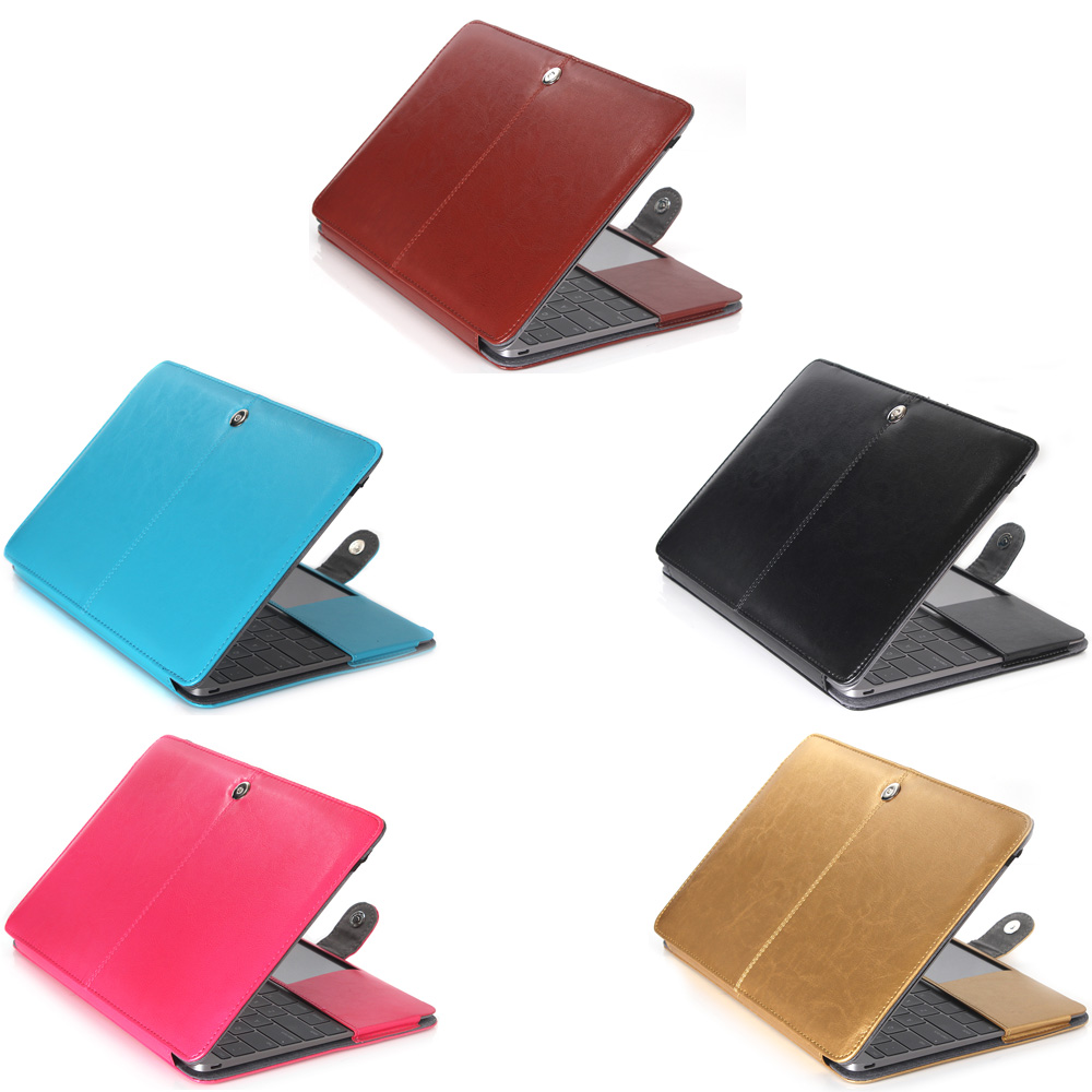 Leather Laptop Case For Macbook 12 A1534 Professional protection cover shell 2015 2016 2017 image