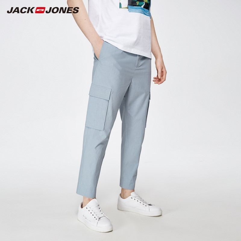 JackJones Men's Casual Cargo Ankle-length Trousers Basic Menswear Pants 219214538