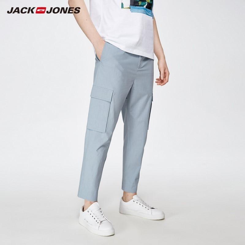 JackJones Men's Casual Cargo Ankle-length Trousers Basic Menswear Pants 219214538