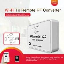 Conversor de controle remoto universal wifi, conversor de 330 868mhz para android ios rf controle remoto wi fi para controle remoto rf 240 ~ 930mhz