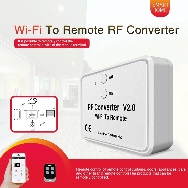 Universal WIFI remote control converter 330 868MHz Android IOS RF WIFI remote control Wi Fi to Remote RF Converter 240~930MHzDoor Remote Control   -
