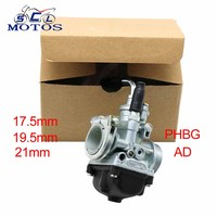 Sclmotos Motorycycle Dellorto Carburator PHBG 17.5mm AD 19.5 mm AD Hand Choke Carb Carburedor for Scooter Moped 50CC 70CC 90CC