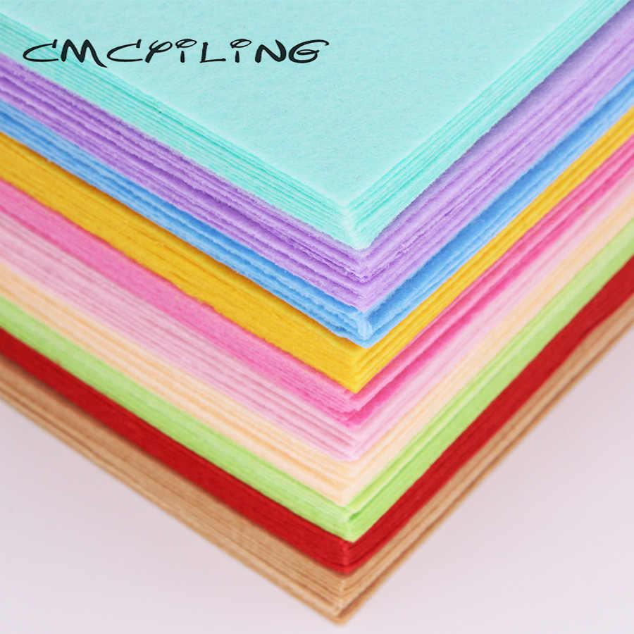 CMCYILING 40 pz/lotto 10*15cm Feltro Tessuto di 1 MM di Spessore Tessuto Poliestere Per L'artigianato FAI DA TE Scrapbook Feltro Lenzuola