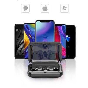 Image 5 - Led ディスプレイ 1200mA 電源銀行ワイヤレス Bluetooth 5.0 イヤホン防水イヤフォン 5D ステレオ Bluetooth すべてのスマートフォン