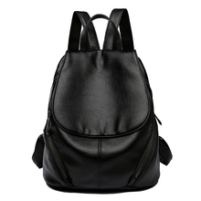 Luxury new women's backpack brand designer bag ladies fashion high quality PU leather large capacity leisure travel bag