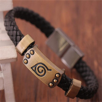 Anime Naruto Knit Bracelet Cosplay Costumes Accessories Props Black Punk Fashion Bracelets tanie i dobre opinie WOMEN Metal