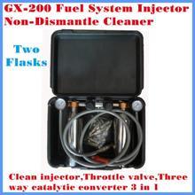 Kraftstoff System Kraftstoff injektor reiniger GX 200 Mit 2 Flaschen Sauber injektor, gas ventil, drei wege katalysator 3 in 1