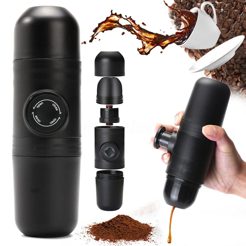 Manual Coffee Maker Hand Operated Espresso Machine Pot Portable Outdoor Travel Coffee Maker
