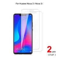 Para Huawei Nova 3 / Nova 3i protectores de pantalla de vidrio templado película protectora HD claro 0,3mm 9H dureza 2.5D