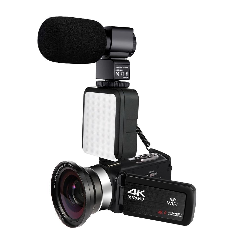 KOMERY 4K 48MP videocámara de vídeo 16X Zoom Digital incorporado Luz de relleno pantalla táctil Vlogging para Youbute Video Digital Handycam Vivicine T12 inteligente 3D casa teatro Proyector de Video 1920x1080 píxeles 100% offset Auto enfoque con Zoom 1080P Full Proyector HD Beamer