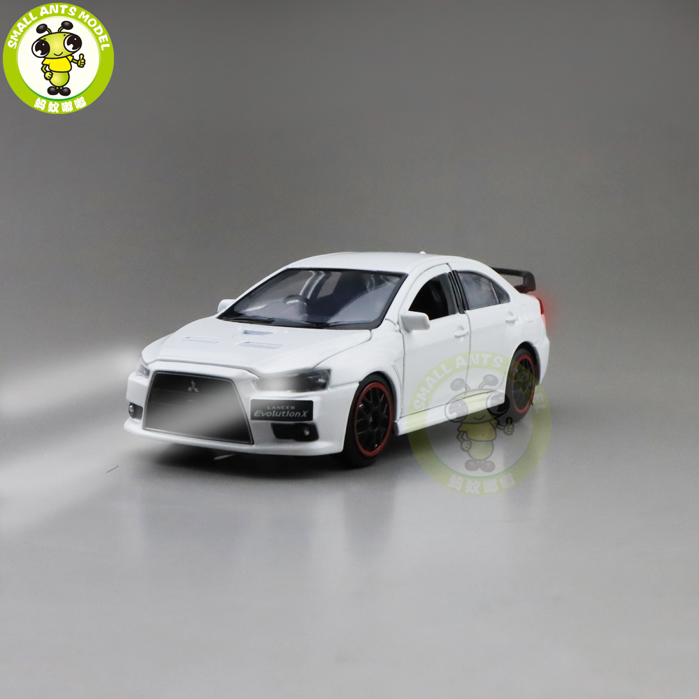 1/32 JACKIEKIM Mitsubishi Lancer EVO X 10 BBS RHD Diecast Model CAR Toys For Kids Boy Girl Gifts