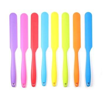 Silikonowa szpatułka, odporna na wysoką temperaturę, elastyczna nieprzywierająca, wąska szpatułka, najlepsza do słoików, blendera i innych