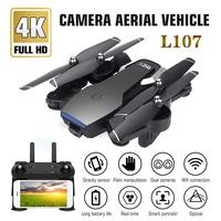 L107 Drone 4K 2.4G WIFI FPV With Wide Angle Dual HD Camera RC Helicopter Toy 20minutes Long Flight Time Folding Portable