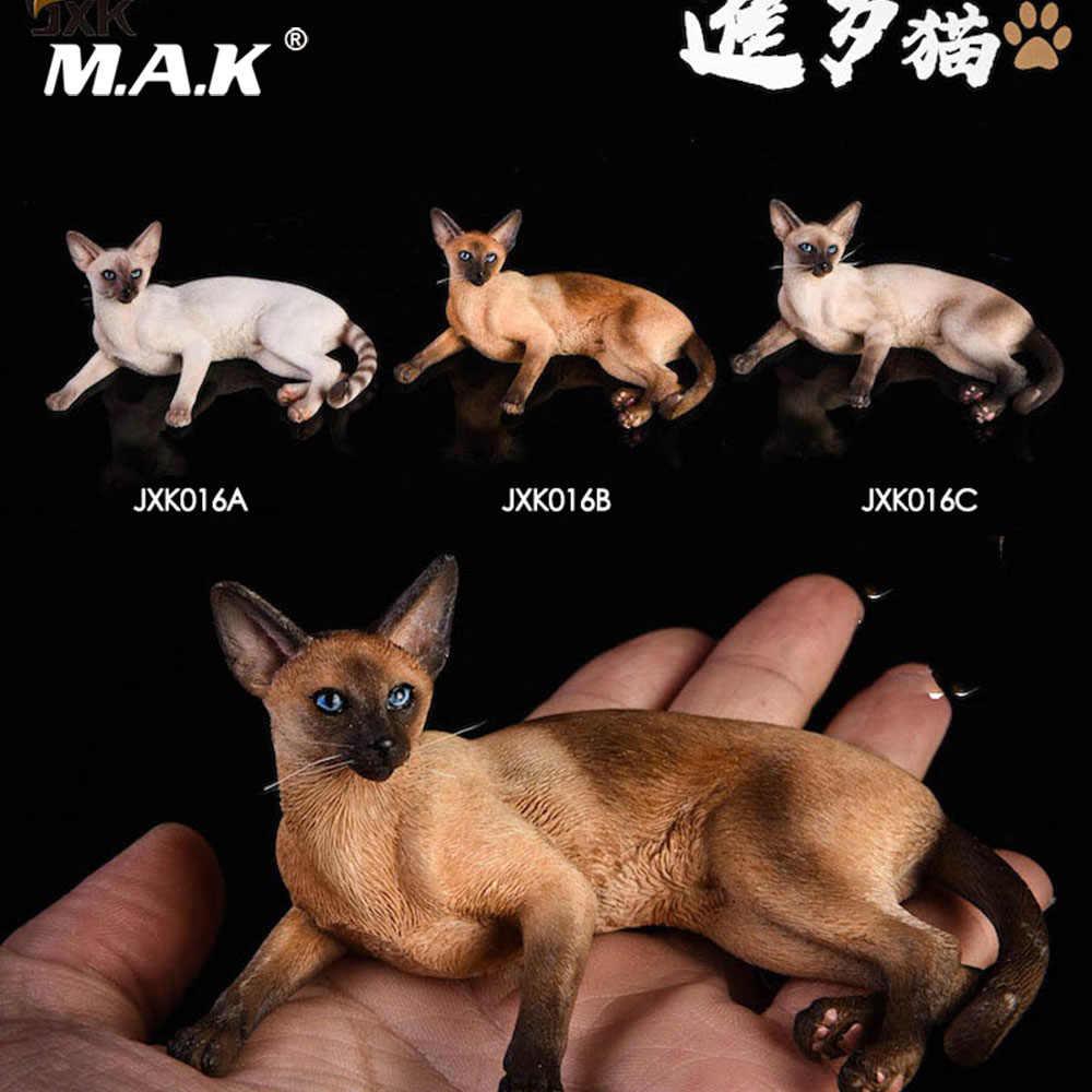 Jxk016 1/6 Scale Anime Figura Cena acessórios Em Estoque Modelo Animal Decoração Do Carro Gato Siamês mentiu para 12 ''Ação figura
