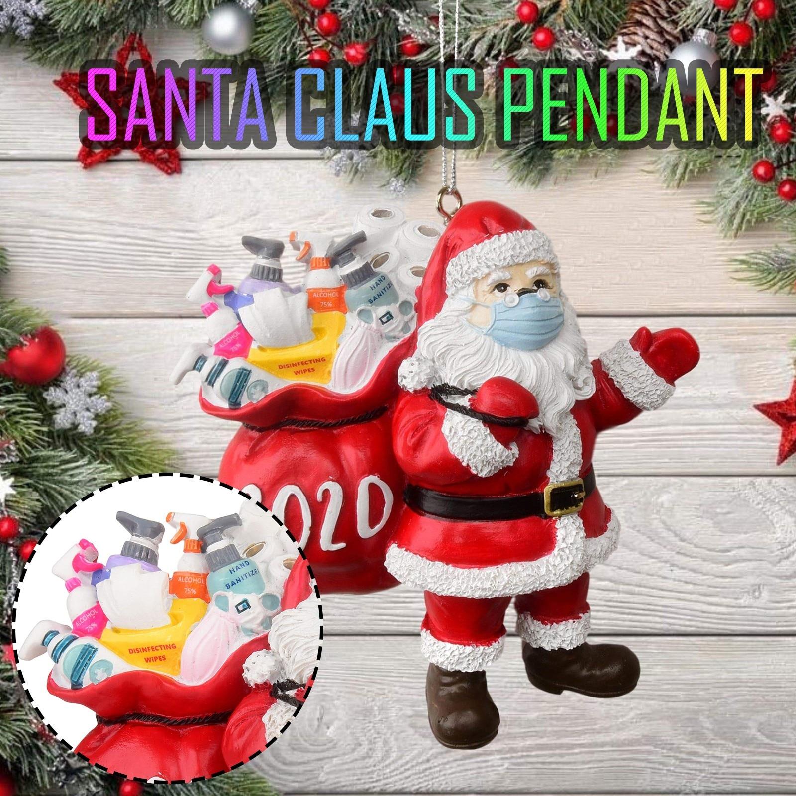 2020 Рождественское украшение Санта в маске для лица, украшение для рождественской елки, рождественские украшения, украшение для елки, Рождес...