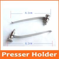 2pcs 8.2cm Biological Stereo Microscope Tablet Clip Slide Clip Stage Specimen Presser Metal Stereomicroscope Accessories
