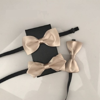 2020 New Fashion Designer Men's Bow Ties Double Fabric champagne Bow Tie Wedding Banquet Club Host Butterfly Tie with Gift Box