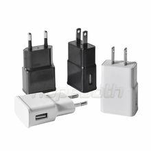 10 pçs/lote 5V 2A Plugue DA UE Adaptador USB Carregador de Viagem Parede Para Samsung galaxy S5 S4 S6 nota 3 2 Para iphone 7 6 5 HTC Huawei Xiaomi