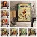 Аватар маг аниме ретро постер художественный декор домашнего декора гостиной Декор на стены с персонажами мультфильмов качество холст кар...