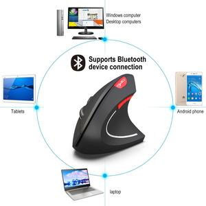 Image 4 - Wireless Bluetooth Mouse Gaming Vertical Ergonomic Gamer Kit 6 Key USB Optical Air Wirless Mause For PC Laptop Computer Notebook