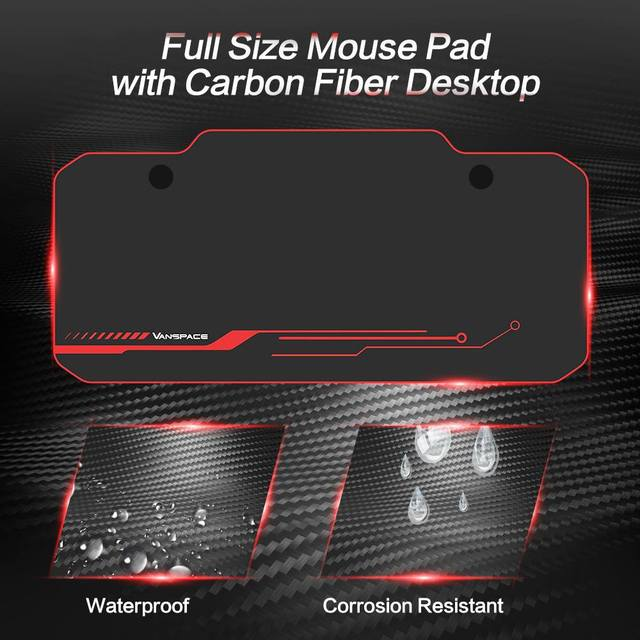43/47/55 Ergonomic Gaming Desk E-sports Computer Table PC Desk Gamer Tables Workstation with USB Gaming Handle Rack&Mouse Pad 5
