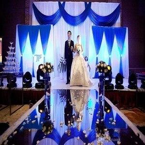 2 м в ширину, свадебные ковровые дорожки в центре, зеркальные проходные дорожки золотого и серебряного цвета, двухсторонний дизайн, Т-станци...