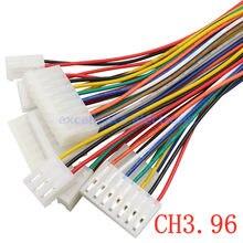 5 sztuk CH CH3.96 2/3/4/5/6 Pin obudowa wtyczki żeńskiej złącze z drutu 22AWG 20cm 2p/3p/4p/5p/6p 3.96MM pojedynczy klosz cynowany kabel