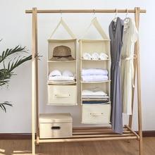 Home Hanging Organizer Closet Wardrobe Cabinet Clothing Underwear Storage Bag Clothes Drawer Organization Accessories все цены