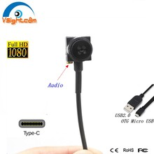 Type C Usb Camera 720P 1080P Micro Usb Otg Camera Knop Audio Cctv Camera Voor Android Mobiele Telefoons 15*15Mm Size(China)