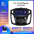 Car Android 10 Radio Stereo Receiver For Ford Focus 3 MK 3 2012-2015 Video Player Multimedia Navigation GPS 2 Din