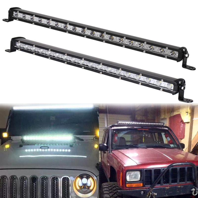 The Vectra 54 W Car Modification Before China Open Bar Lamp Condenser Floodlight Mixed Light Led Single Strip Light