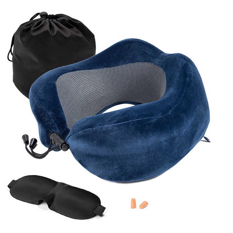 U 字型メモリ泡の首枕ソフトスローリバウンド枕頚椎ヘルスケア寝具ドロップ配送トラベル枕