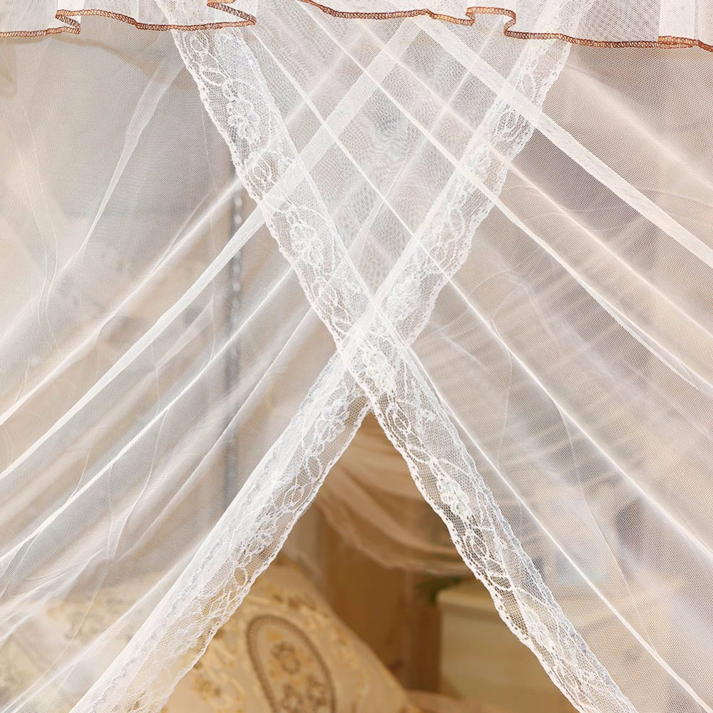 Romantic Lace Canopy Mosquito Net No Frame for Twin Full Queen King Bed Bump