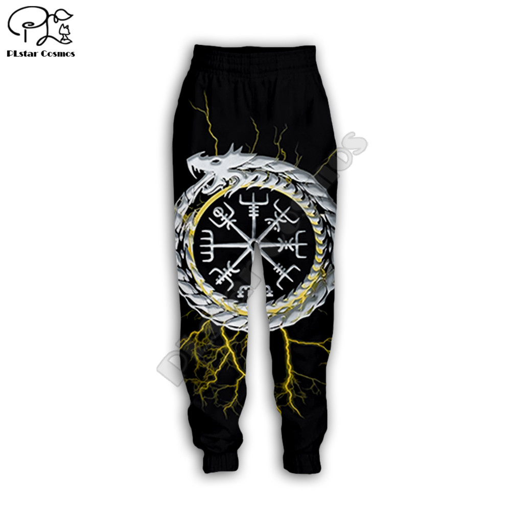 PLstar Cosmos 2020 New Men For Women Casual Pants Viking Tattoo 3d Printed Jogging Hip Hop Long Sweatpants Style-5